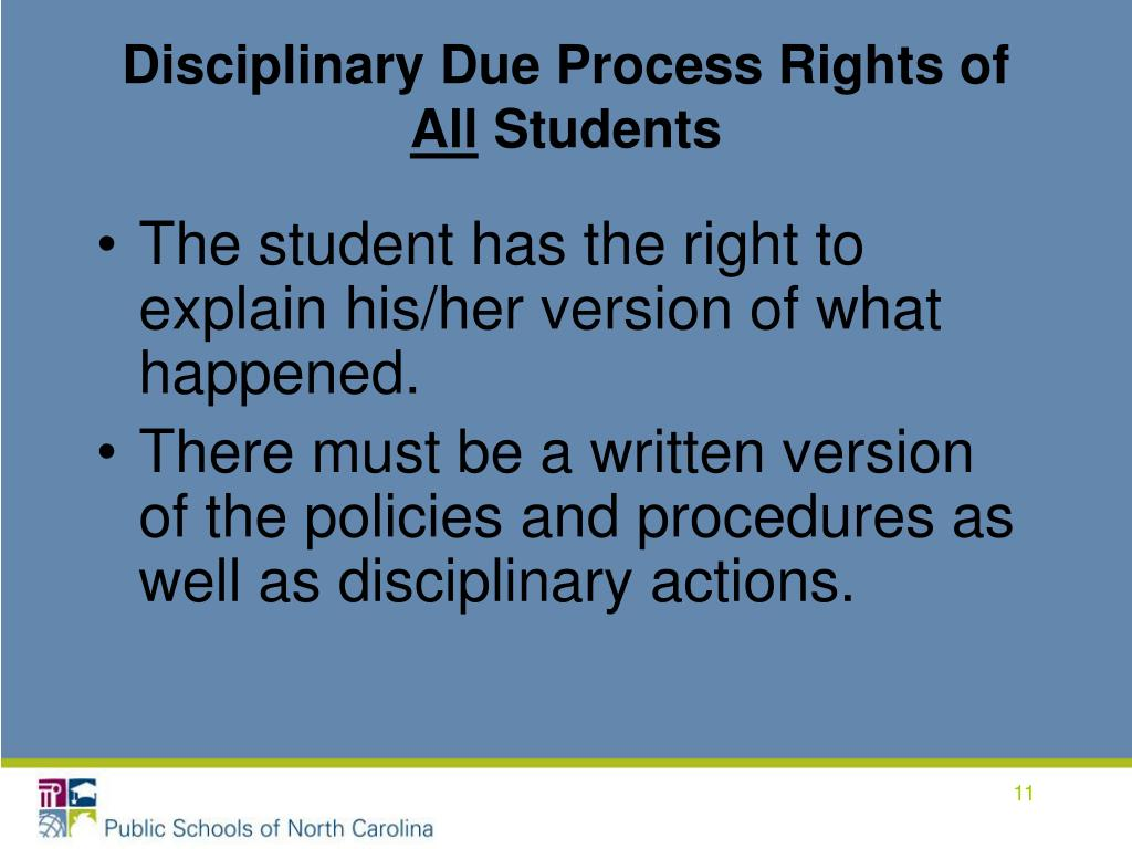 Disciplinary Due Process Rights of