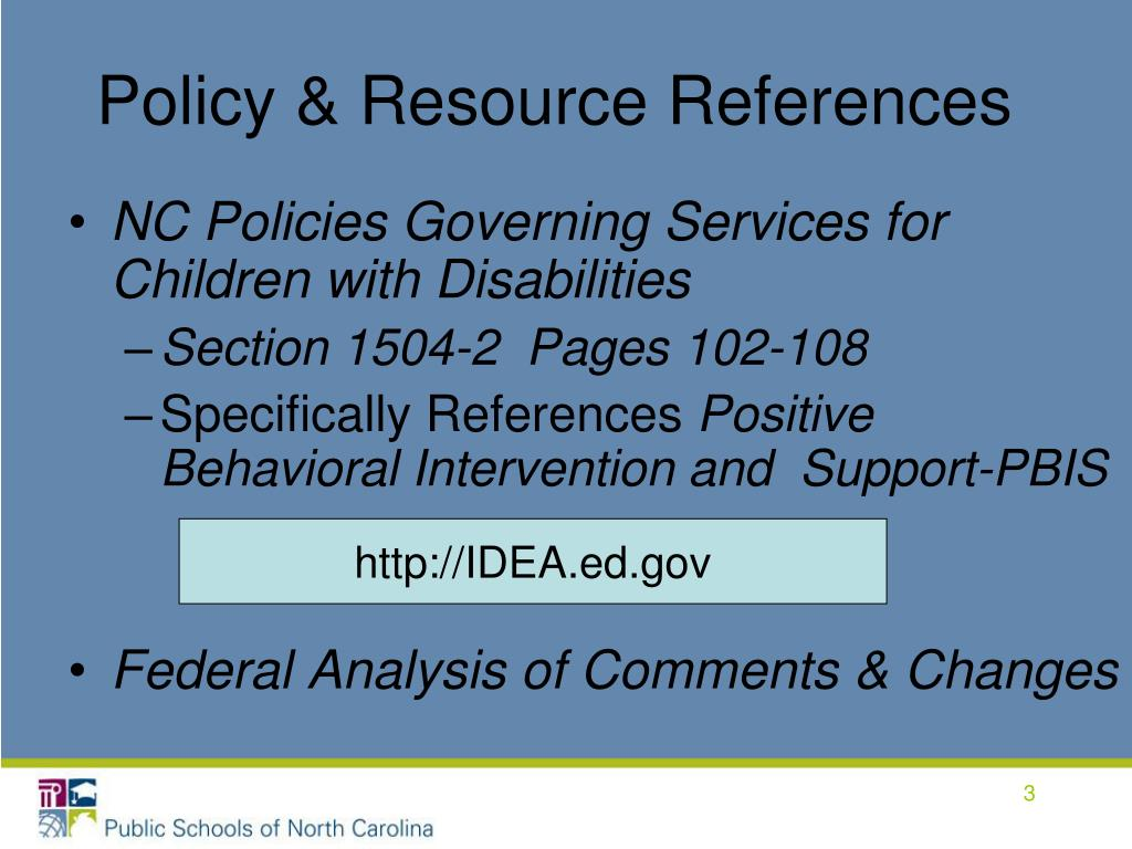 Policy & Resource References