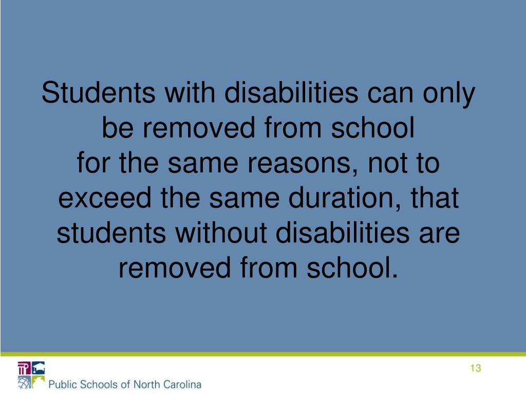 Students with disabilities can only