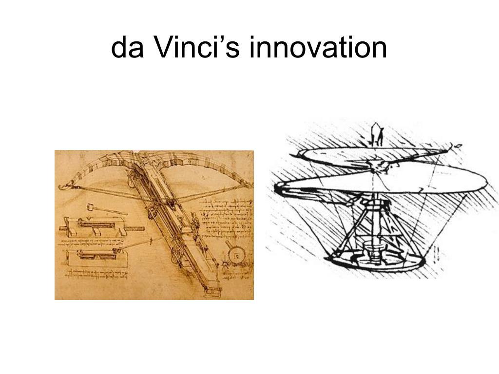 da Vinci's innovation