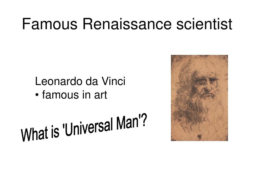 Famous Renaissance scientist