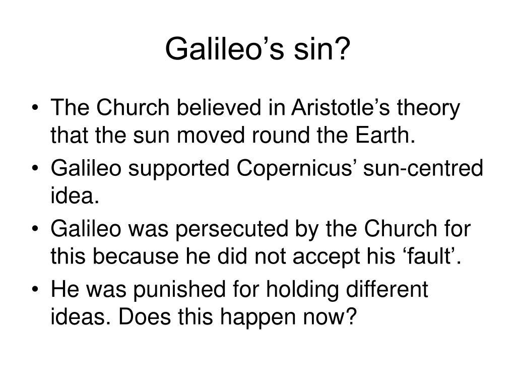 Galileo's sin?