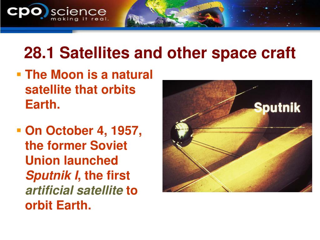 28.1 Satellites and other space craft