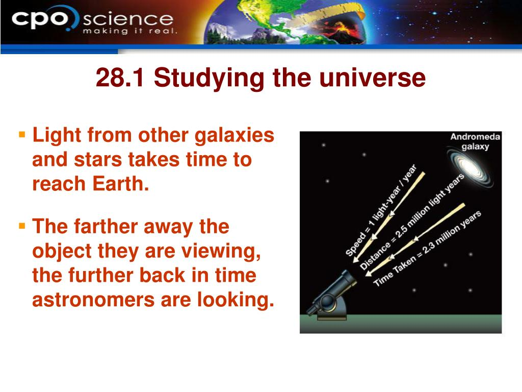 28.1 Studying the universe