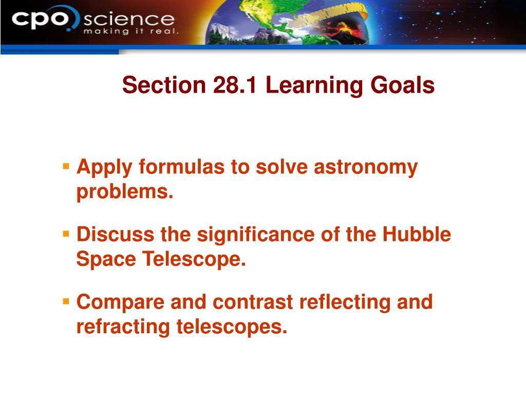 Section 28.1 Learning Goals