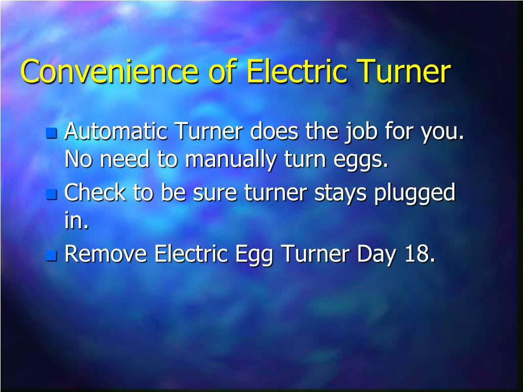 Convenience of Electric Turner