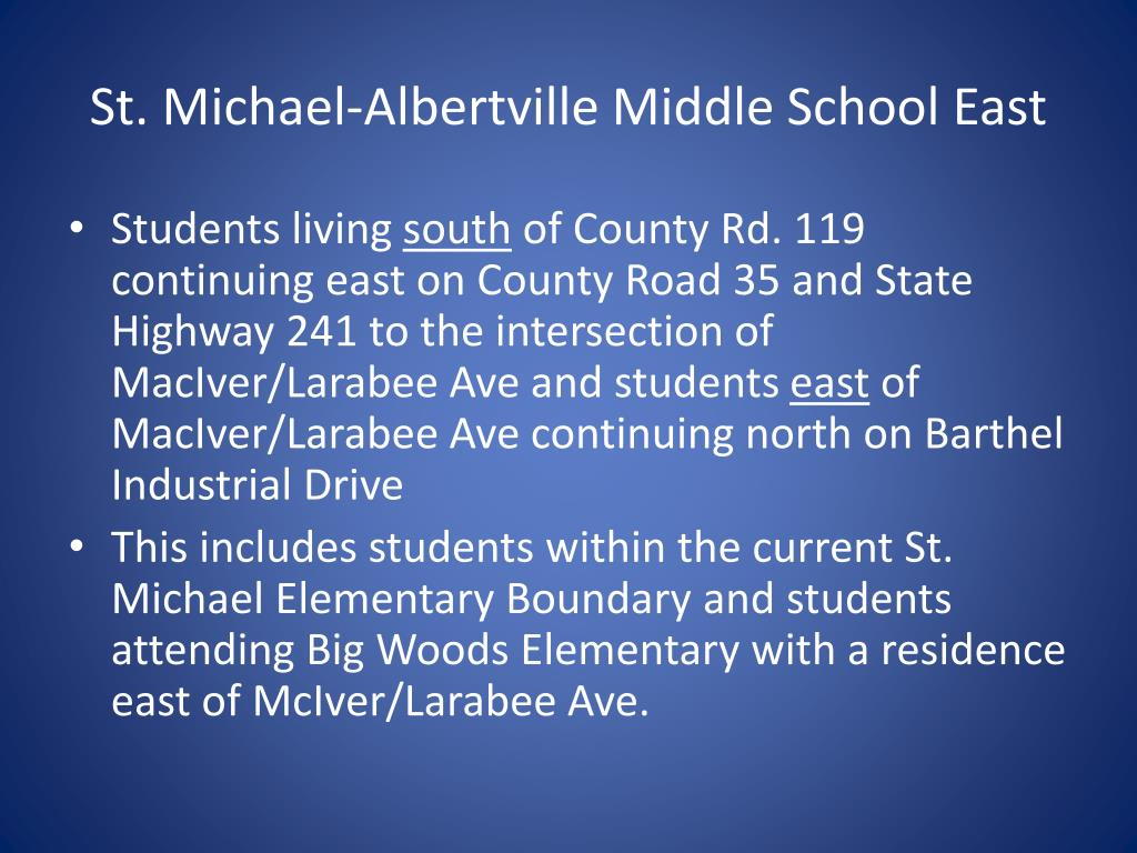 St. Michael-Albertville Middle School East