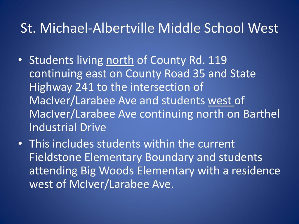 St. Michael-Albertville Middle School West