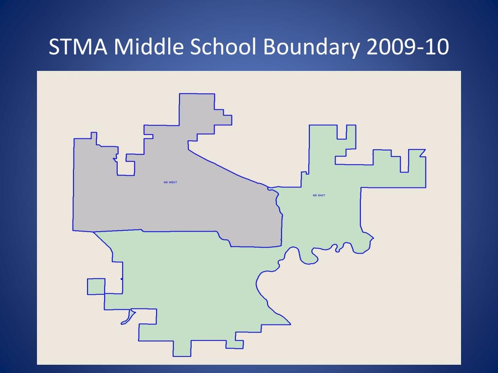 STMA Middle School Boundary 2009-10