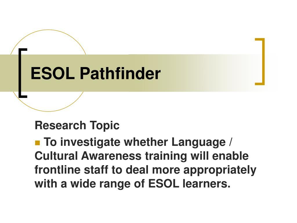 ESOL Pathfinder
