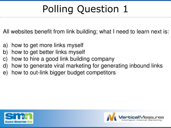 Polling Question 1