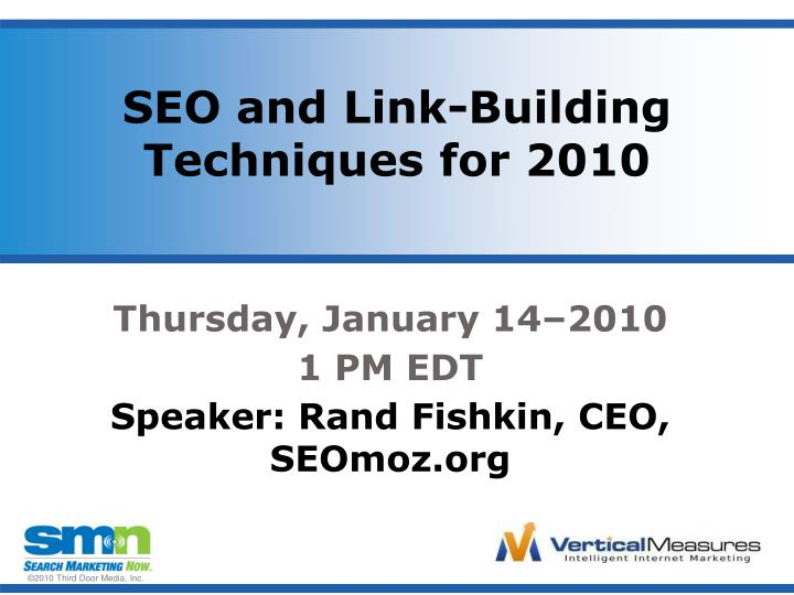 Seo and link building techniques for 2010