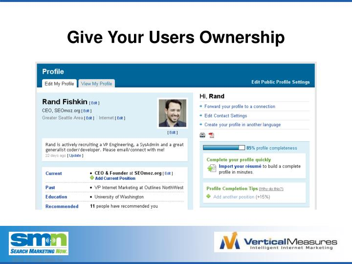 Give Your Users Ownership