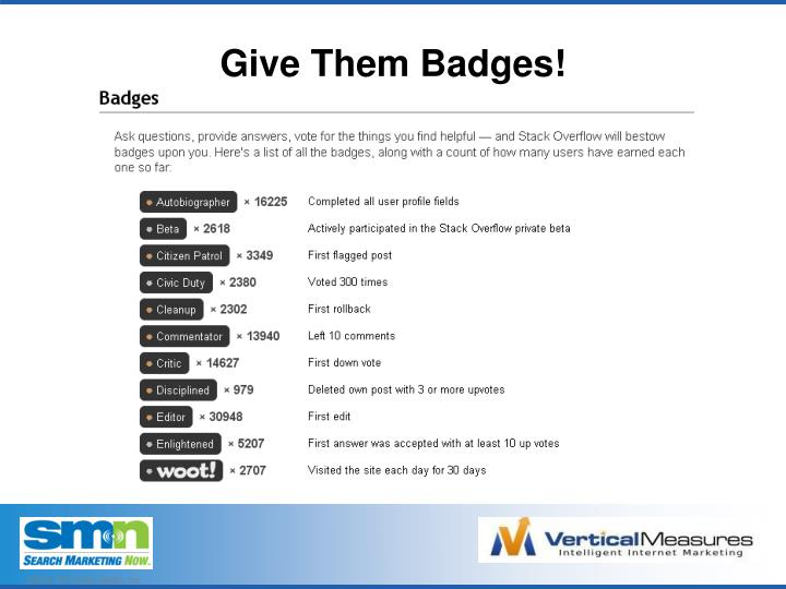 Give Them Badges!