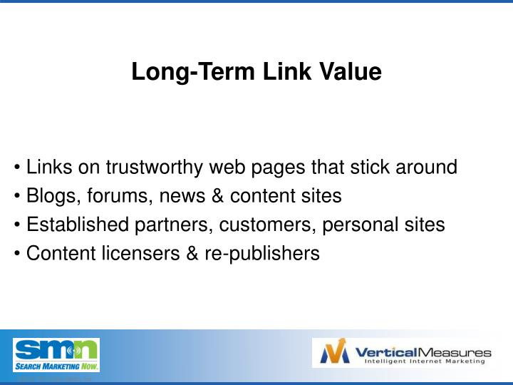 Long-Term Link Value