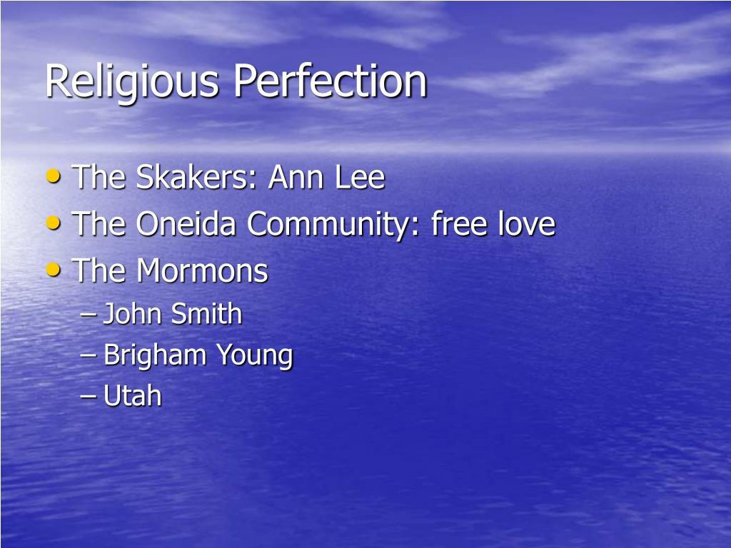 Religious Perfection