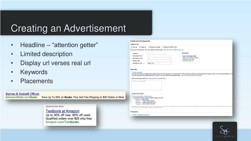 Creating an Advertisement