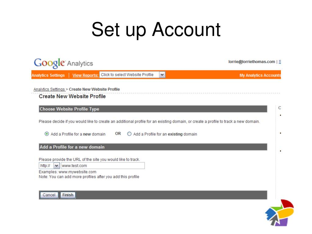 Set up Account