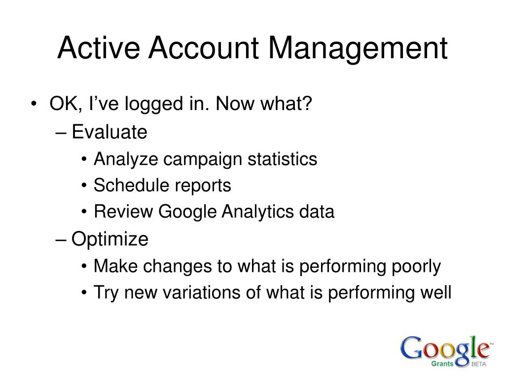 Active Account Management
