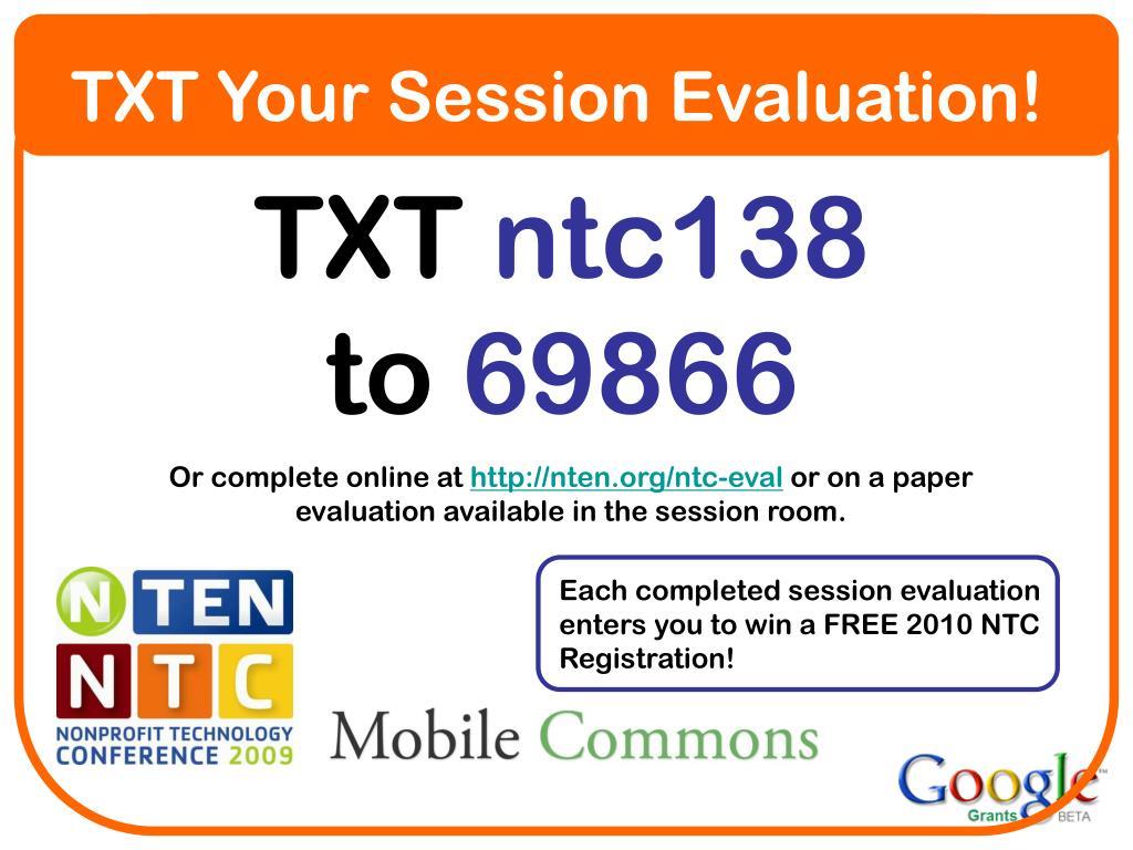 TXT Your Session Evaluation!