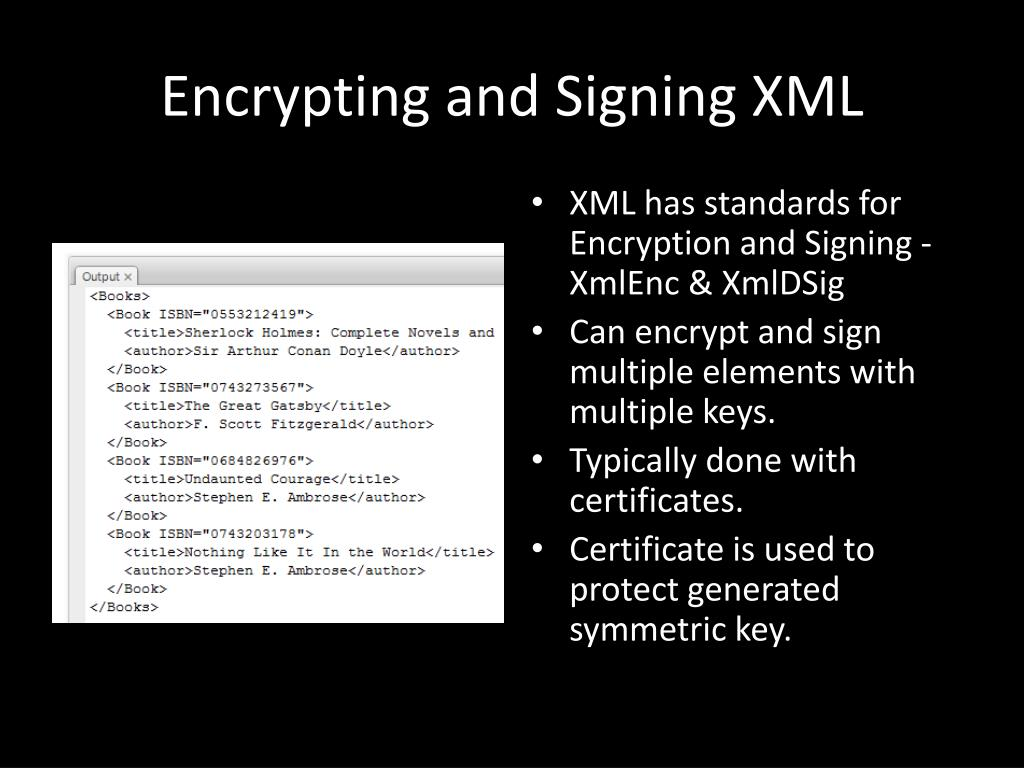 Encrypting and Signing XML