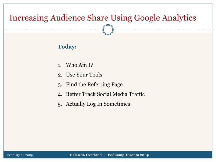 Increasing audience share using google analytics l.jpg