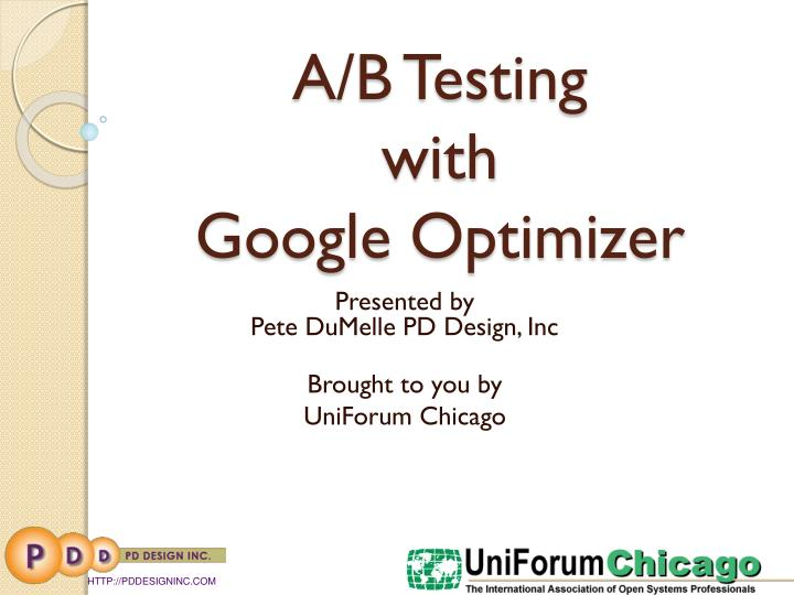 A b testing with google optimizer