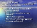 development goals component 1 infrastructure land use and environment development13