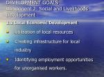 development goals component 2 social and livelihoods development24