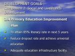 development goals component 2 social and livelihoods development28