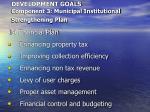 development goals component 3 municipal institutional strengthening plan36