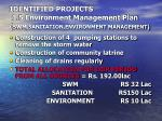 identified projects 1 5 environment management plan swm sanitation environment management