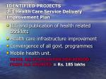 identified projects 2 3 health care service delivery improvement plan