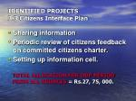 identified projects 3 3 citizens interface plan