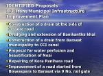 identified proposals 1 3 trans municipal infrastructure improvement plan