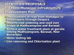 identified proposals 1 3 trans municipal infrastructure improvement plan17