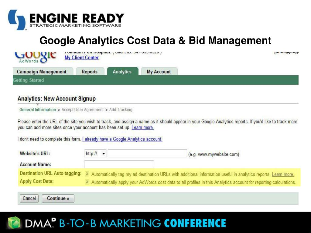 Google Analytics Cost Data & Bid Management