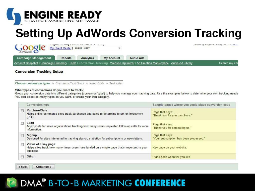 Setting Up AdWords Conversion Tracking