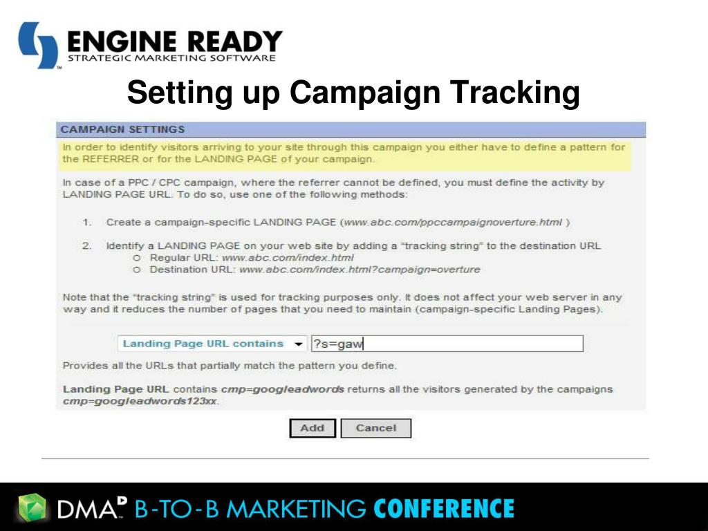 Setting up Campaign Tracking