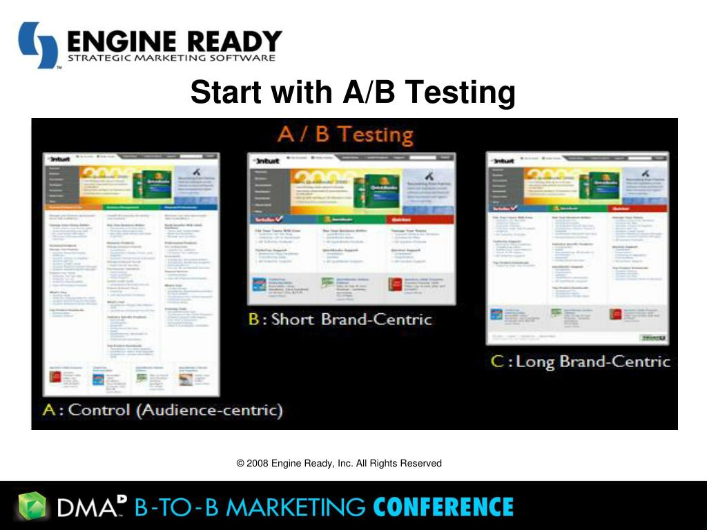 Start with A/B Testing
