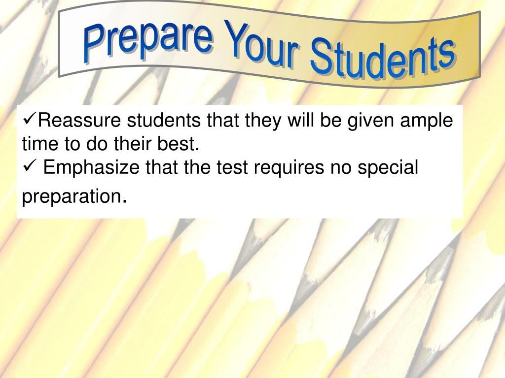 Prepare Your Students