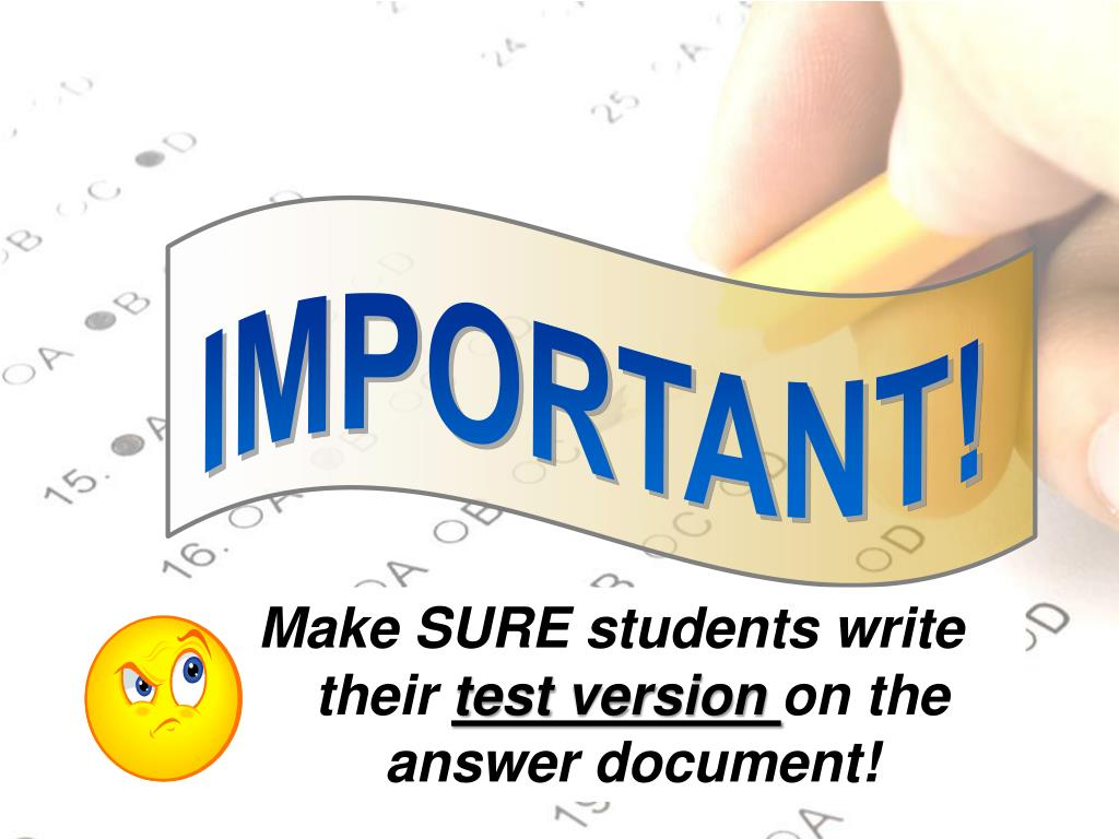 Make SURE students write their