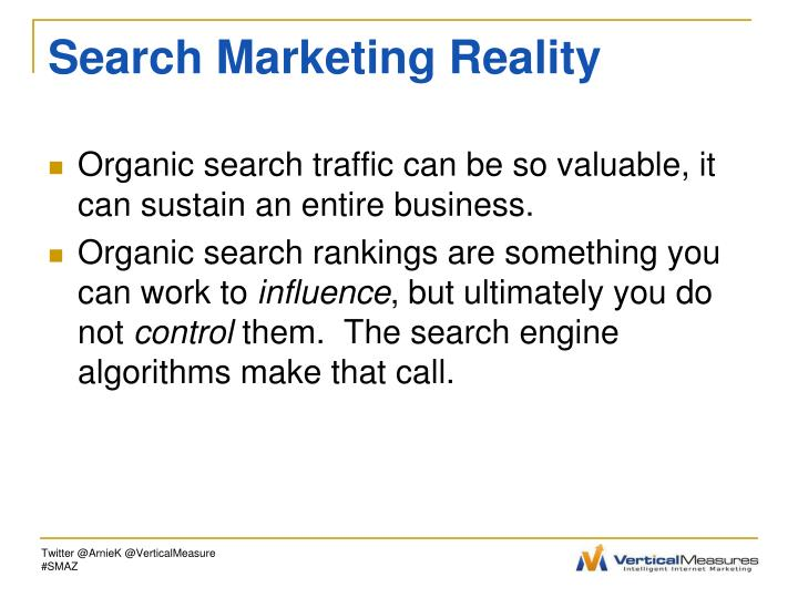 Search marketing reality