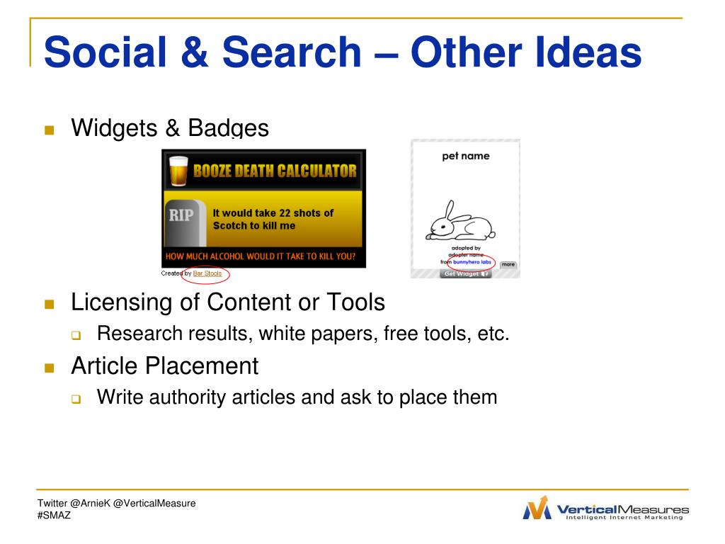 Social & Search – Other Ideas