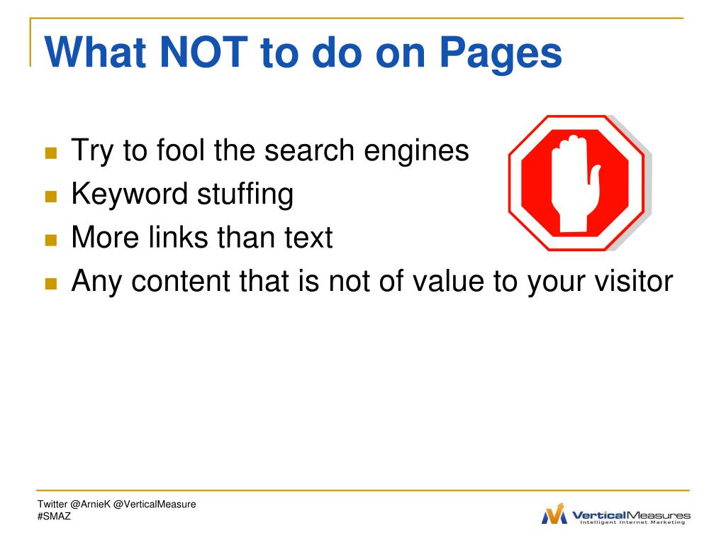 What NOT to do on Pages
