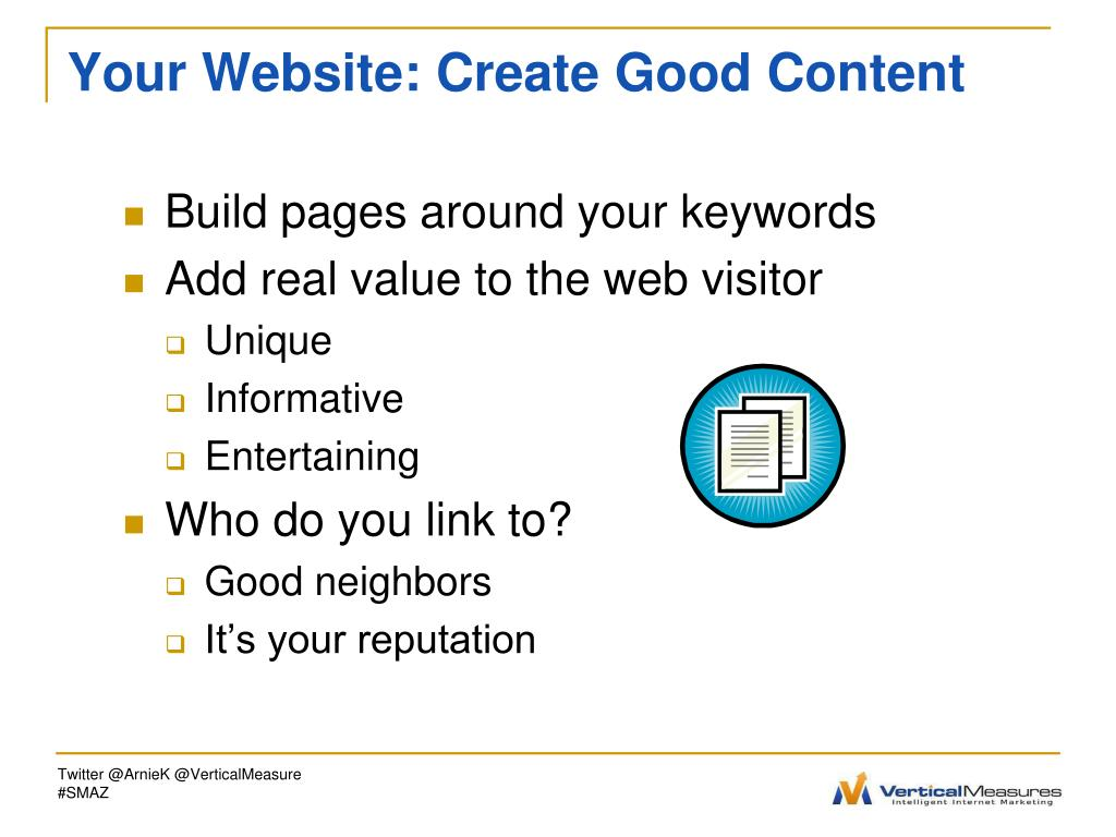 Your Website: Create Good Content