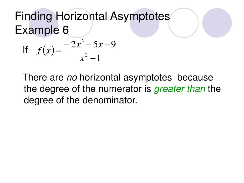 how to find x and y asymptotes