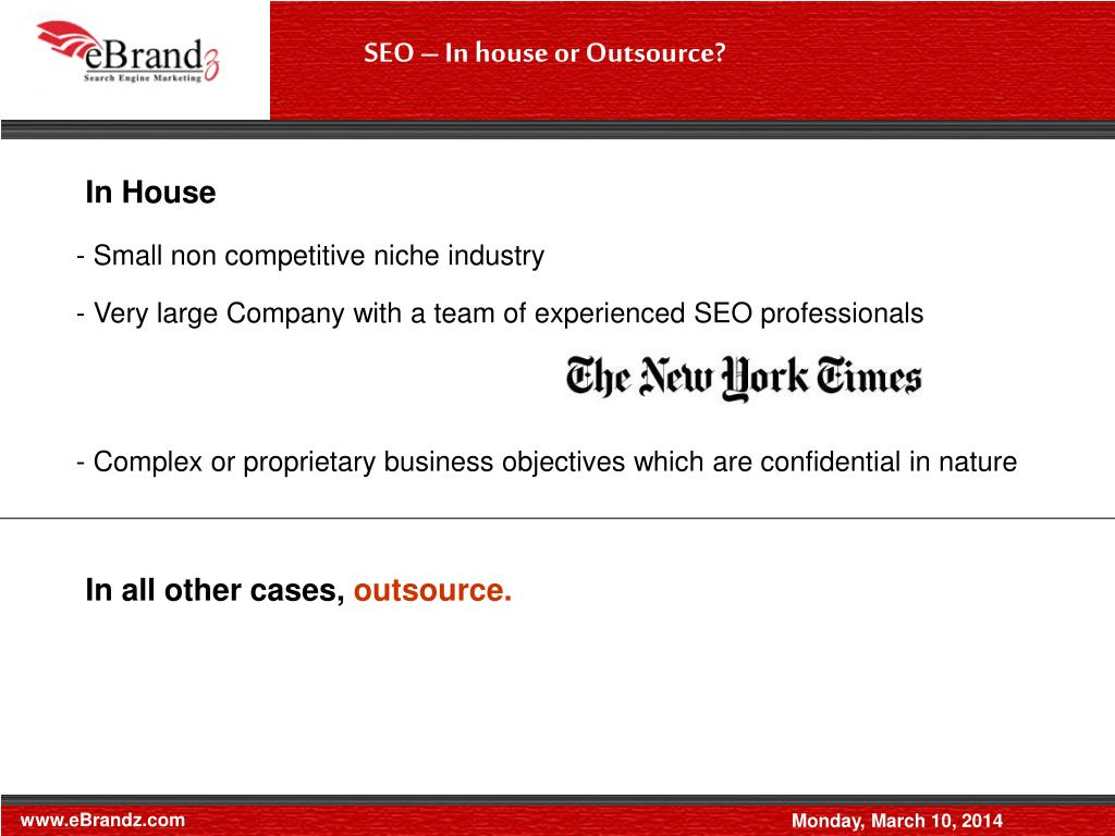 SEO – In house or Outsource?