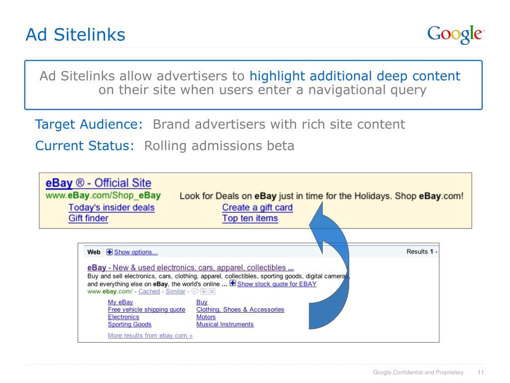 Ad Sitelinks