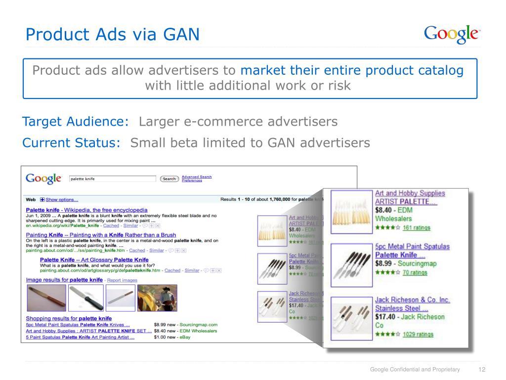 Product Ads via GAN